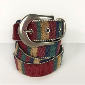 Elite Vintage Needlepoint Baja Tapestry Belt 4XL